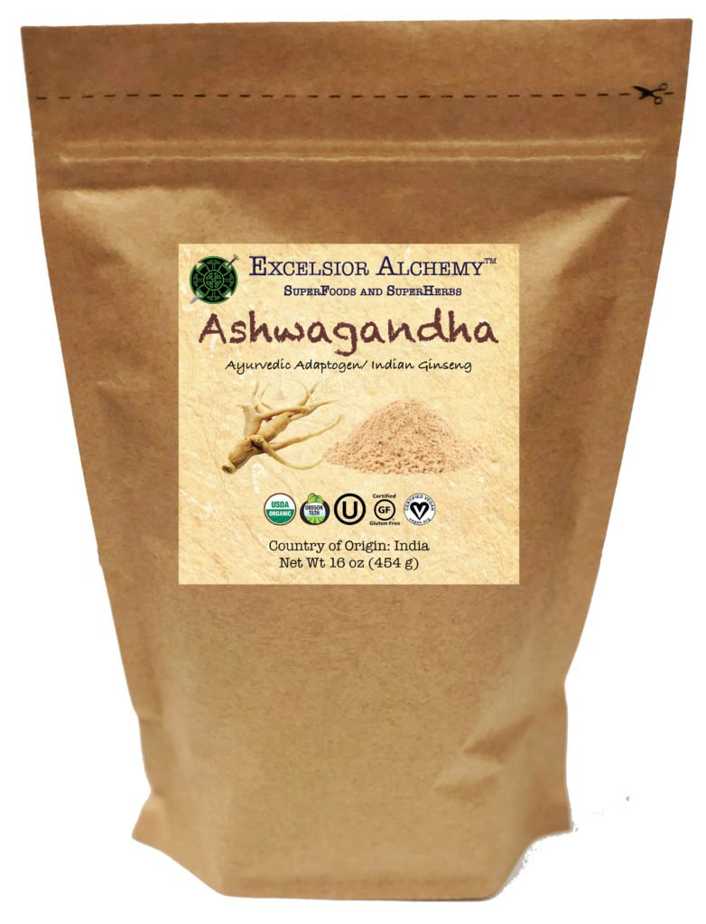Organic Ashwagandha (Withania somnifera), also known as Indian Ginseng, is an ayurvedic herb that can be traced back to around 6,000 B.C. Ashwagandha is one of the most powerful adaptogenic herbs of the tradition.