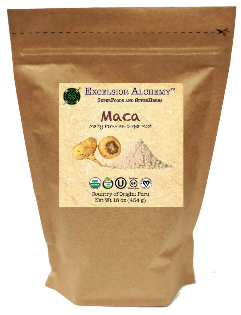 Organic Maca is an ancient Peruvian superfood root (Lepidium meyenni) that is cultivated by Incan farmers at altitudes of 11,000+ feet. Maca is a powerful, nutrient-dense adaptogen and has a rich history of use dating back over 1,300 years.