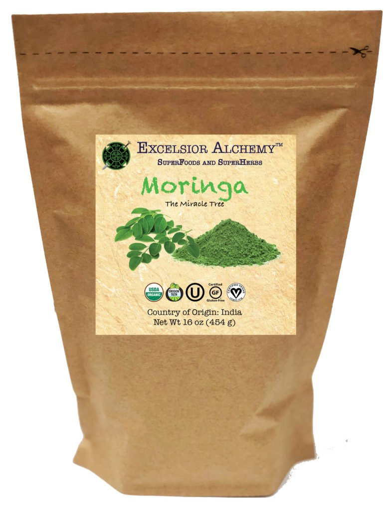 Organic Moringa (Moringa oleifera) is from the leaves of The Miracle Tree that has a history of use dating back to 2,000 B.C. Moringa is a rich nutritional powerhouse and a versatile herb that can be enjoyed daily.